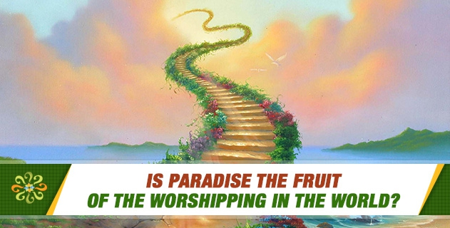 Is Paradise the fruit of the worshipping in the world?