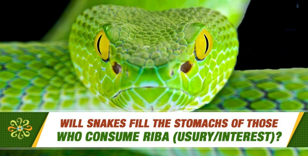 Will snakes fill the stomachs of those who consume riba (usury/interest)?