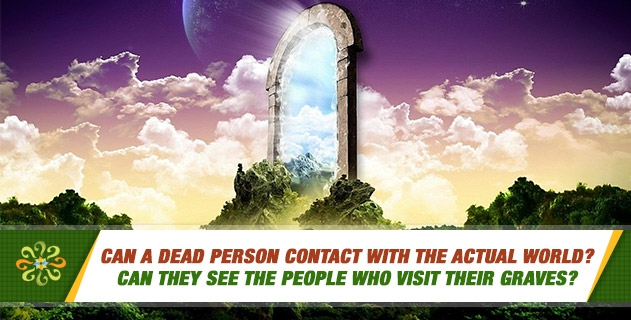 Can a dead person contact with the actual world? Can they see the people who visit their graves?